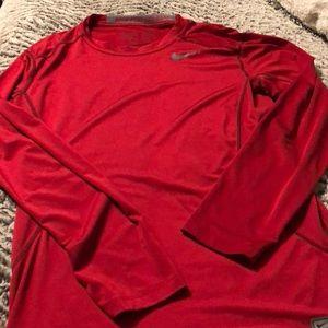 Long sleeve Nike pro combat dri fit large shirt